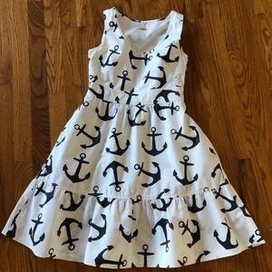 J. Crew white Anchor sleeveless cotton Dress